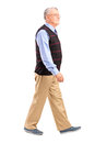 Full length portrait of a senior man walking Royalty Free Stock Photos