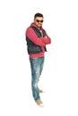 Full length of rapper man Royalty Free Stock Photo