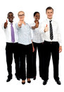 Full length shot executives showing thumbs up Royalty Free Stock Images