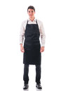 Full length shot of young chef or waiter posing Royalty Free Stock Photo