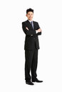 Full Length Studio Portrait Of Chinese Businessman Royalty Free Stock Photo