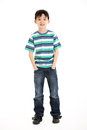 Full Length Studio Shot Of Chinese Boy Royalty Free Stock Photo