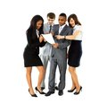 Full length of successful business professionals Stock Image