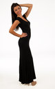 Full length teenage girl in black dress Stock Image