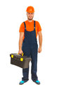 Full length of worker man Royalty Free Stock Photo