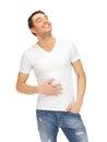 Full man in white shirt Stock Image