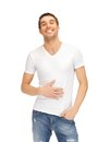 Full man in white shirt bright picture of Stock Images