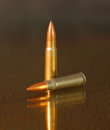 Full metal jacket bronze projectile jacketed bullet with Stock Photo