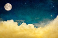 Full Moon and Cloudscape Royalty Free Stock Photo