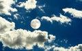 Full moon day Royalty Free Stock Photos