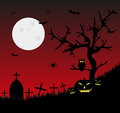 The full moon in the horror night for halloween Royalty Free Stock Photos