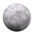 Full moon isolated on white background d render Royalty Free Stock Photography