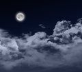 Full moon by night Stock Image