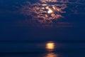 Full moon in night sky Royalty Free Stock Photo