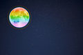 Full moon in the night starry sky background, copy space Royalty Free Stock Photo