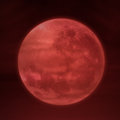 Full moon on red background halloween of Stock Photo