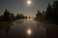 Full moon river Royalty Free Stock Photo