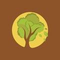 Full moon tree Royalty Free Stock Photo