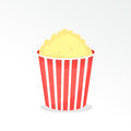 Full popcorn bucket Royalty Free Stock Photo