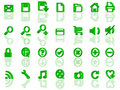 Full set of 3d web icons Stock Image