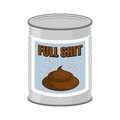 Full shit canned turd vector illustration Royalty Free Stock Photography
