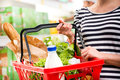 Full shopping basket Royalty Free Stock Photo