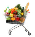 Full shopping trolley Royalty Free Stock Photo