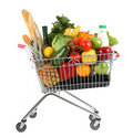 Full shopping trolley Stock Image