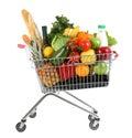 Full shopping trolley