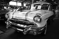 Full size car pontiac chieftain paaren im glien germany may black and white the oldtimer show in mafz Stock Photography