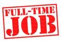 FULL-TIME JOB Royalty Free Stock Photo