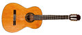 Full view of spanish acoustic guitar Royalty Free Stock Photo