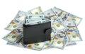 Full wallet on dollar bills Royalty Free Stock Photo