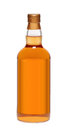 Full whiskey bottle Royalty Free Stock Photo