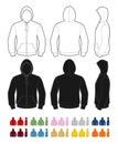 Full-zip hoodie Royalty Free Stock Photo