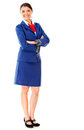 Fullbody flight attendant Stock Image