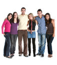 Fullbody group of friends Stock Images