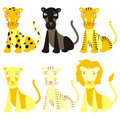Fully editable vector felines ready to use Stock Image
