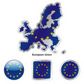 Fully editable vector flag of european union Royalty Free Stock Photography