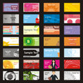 Fully editable vector visit cards with different l Stock Photo