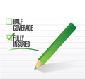 Fully insured check mark illustration design over a white background Stock Image