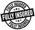 fully insured stamp Royalty Free Stock Photo