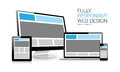 Fully responsive web design electronic devices illustration eps Royalty Free Stock Photos