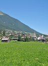 Fulpmes stubaital tirol austria the popular village of im Stock Photos