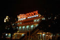 Fulton s by night come aboard for succulent seafood and steak selections from alaska king crab claws to filet mignon with Stock Photography