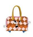 Fumetto arrabbiato della borsa della donna Immagine Stock