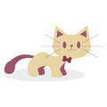 Fumetto sveglio cat isolated on white background Immagini Stock