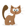 Fumetto sveglio cat isolated on white background Fotografia Stock Libera da Diritti