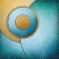 Fun abstract background with circles and buttons layered in graphic art design element blue gold layers of blue gold circle shapes Stock Image