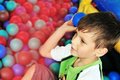 Fun in ball pool Royalty Free Stock Images